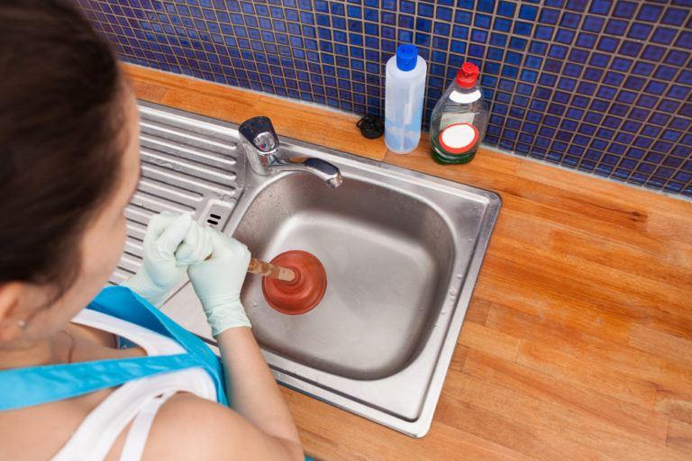 Очистка раковины